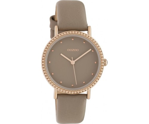 OOZOO Timepieces taupe leather Strap