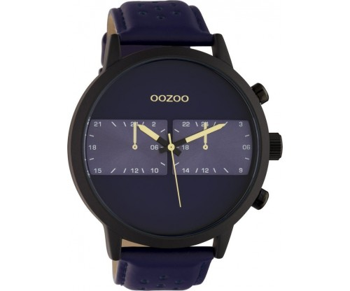 OOZOO Timepieces Summer leather blue