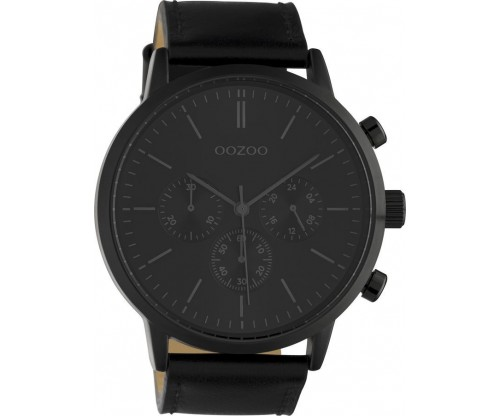 OOZOO Timepieces Summer leather black