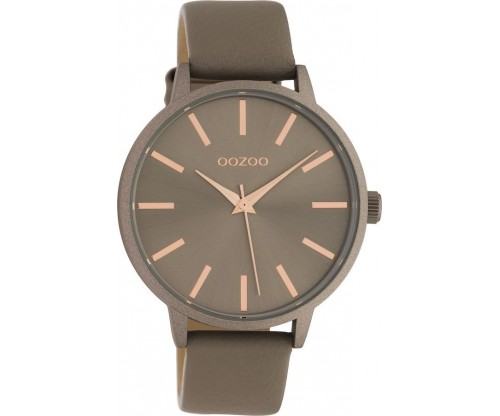 OOZOO Timepieces Summer leather taupe