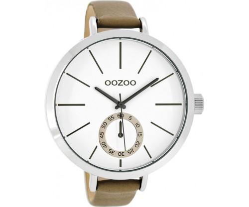 OOZOO Timepieces taupeleather Strap