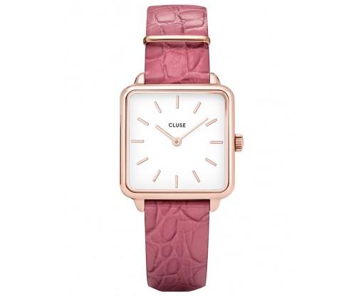CLUSE La Tetragone Pink Leather Strap