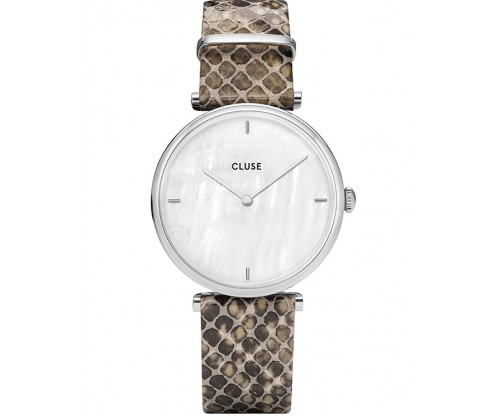 CLUSE Triomphe Beige Leather Strap