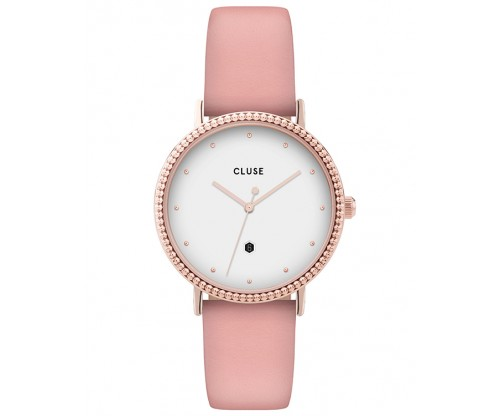 CLUSE Le Couronnement Rose Gold Pink Leather Strap