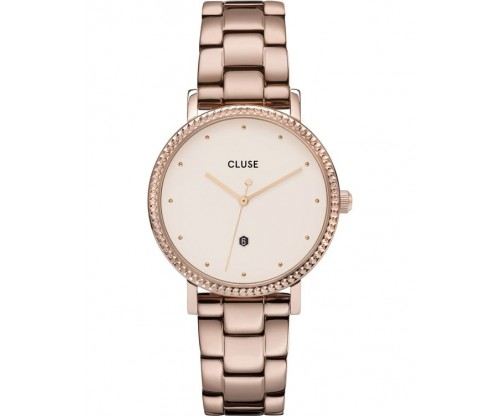 CLUSE Le Couronnement Crystals Rose Gold Stainless Steel Bracelet