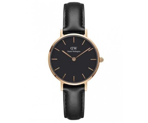 Daniel Wellington Classic Petite Sheffield Black Leather Strap 28mm