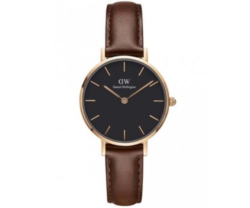 Daniel Wellington Classic Petite St Mawes Brown Leather Strap 28mm