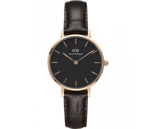 Daniel Wellington Classic Petite York Black Leather Strap 28mm