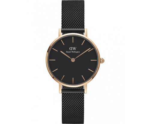 Daniel Wellington Petite Ashfield Black Metallic Bracelet 28mm