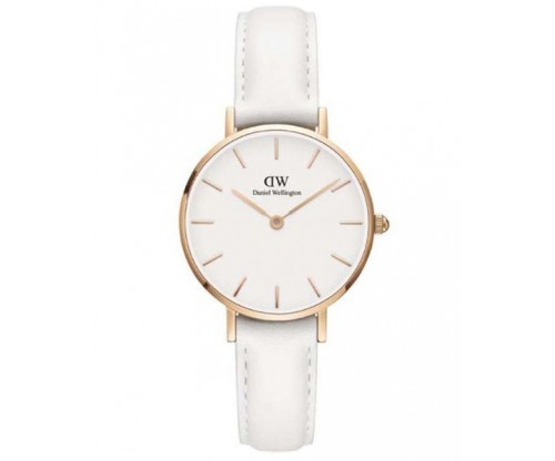 Daniel Wellington Petite Bondi White Leather Strap 28mm