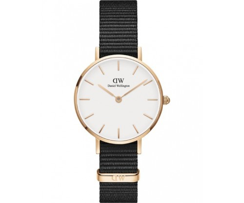 Daniel Wellington Petite Cornwall Black Fabric Strap 28mm