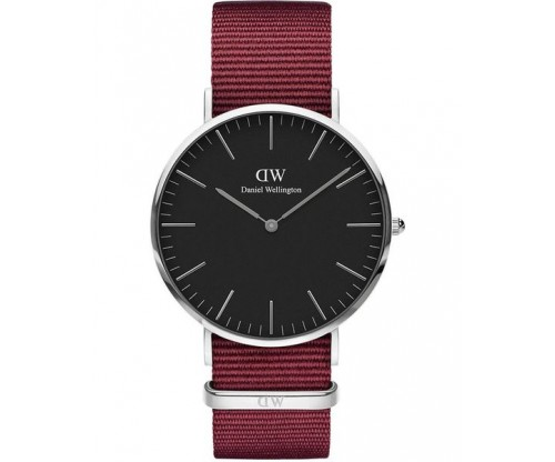 DANIEL WELLINGTON Roselyn Bordeaux Fabric Strap 40mm