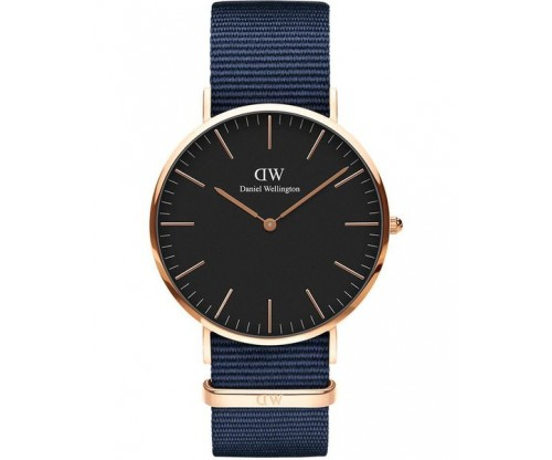 DANIEL WELLINGTON Bayswater Blue Fabric Strap 40mm