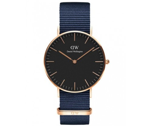 DANIEL WELLINGTON Bayswater Blue Fabric Strap 36mm