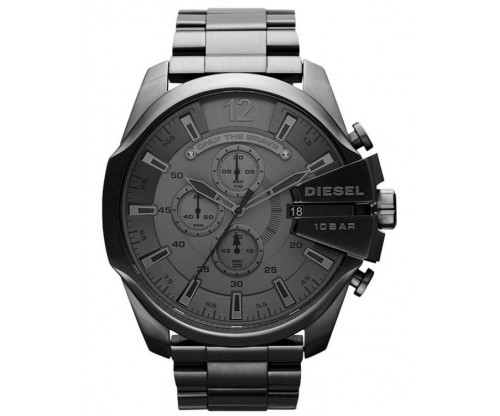 DIESEL Mega Chief, Chronograph, Dark Grey Stainless Steel Bracelet