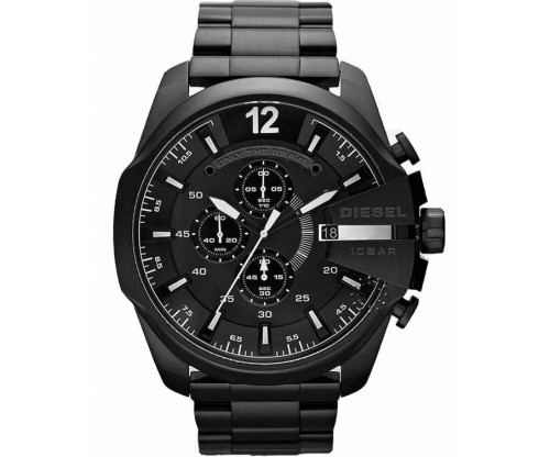 DIESEL Mega Chief, Chronograph, Black Stainless Steel Bracelet