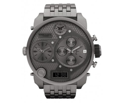 DIESEL Mr. Daddy 2.0 Chronograph Carbon Stainless Steel Bracelet