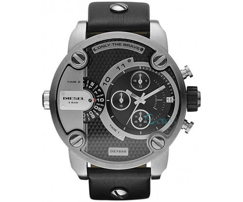 DIESEL Little Daddy Chronograph Black Leather strap