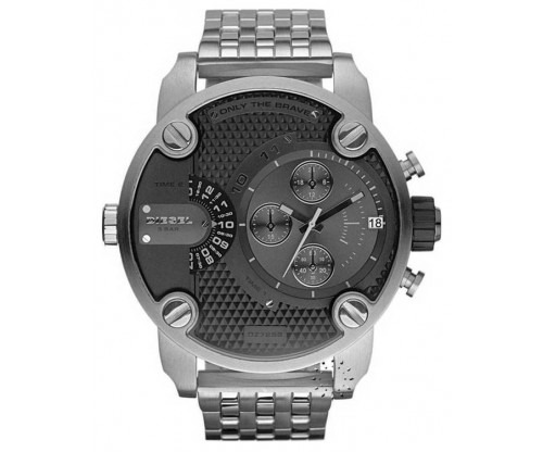DIESEL Little Daddy Chronograph Gunmetal Stainless Steel Bracelet