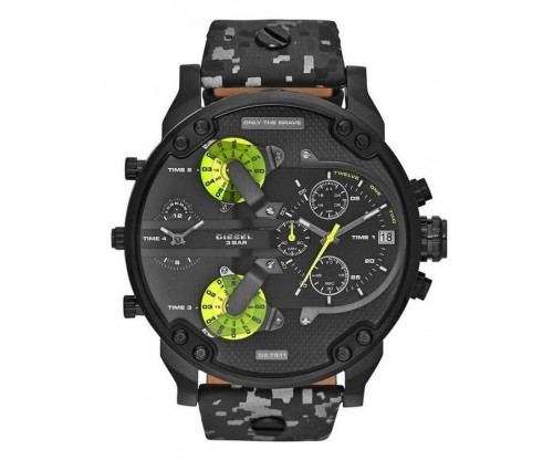 DIESEL Mr. Daddy 2.0 Chronograph Black Leather strap