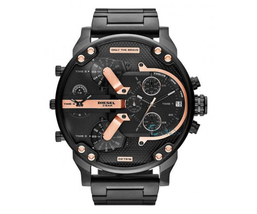 DIESEL XXL Mr Daddy 2, Chronograph, Black Stainless Steel Bracelet