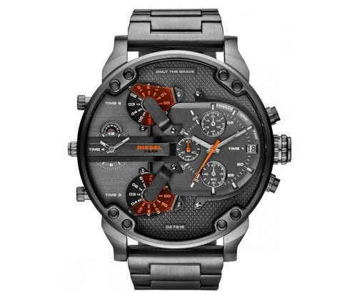 DIESEL Mr. Daddy 2.0 Chronograph Gun Metal Stainless Steel Bracelet