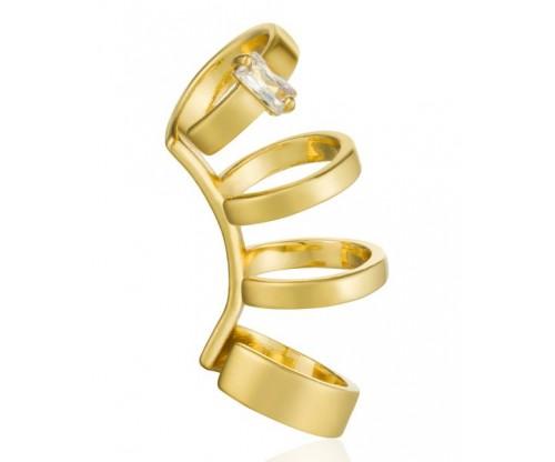 ANIA HAIE Glow Crawlre Ear Cuff, Silver, Gold-tone plated