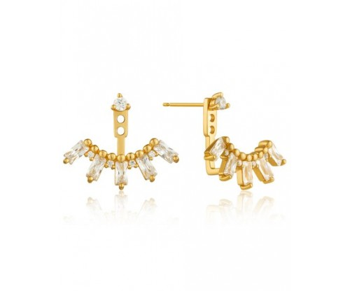 ANIA HAIE Cluster Ear Jackets, Silver, Gold-tone plated