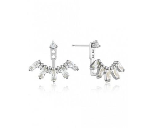 ANIA HAIE Cluster Ear Jackets, Silver, Rhodium Plated