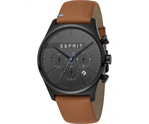 ESPRIT Ease Chronograph Brown Leather Strap