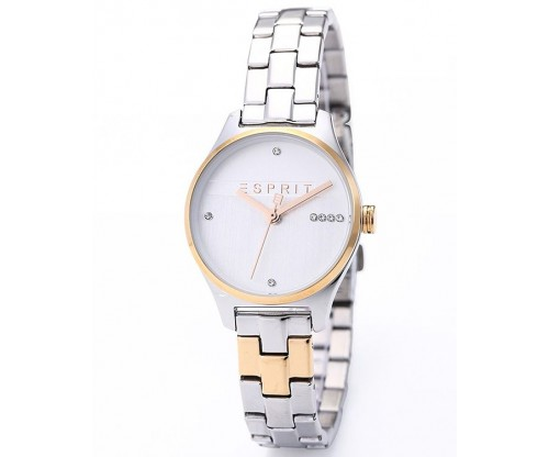 ESPRIT Essential Glam with zirconia Tow Tone Stainless Steel Bracelet