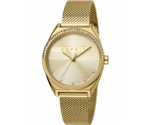 ESPRIT Slice Glam Crystals Gold Stainless Steel Bracelet