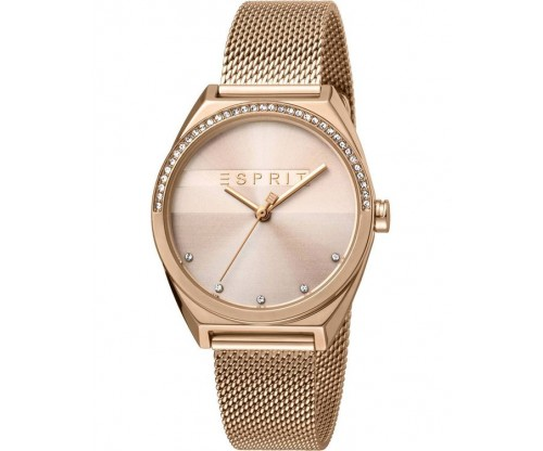 ESPRIT Slice Glam Crystals Rose Gold Stainless Steel Bracelet