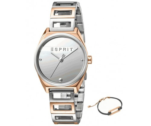 ESPRIT Slice Mini RoseGold Silver Stainless Steel Bracelet GIFT Set Bracelet