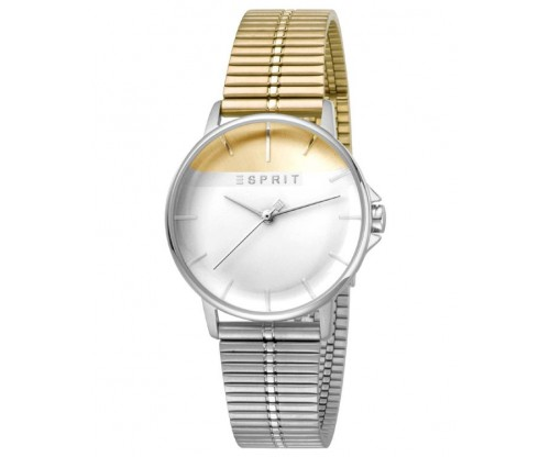 ESPRIT Fifty-Fifty Gold Silver Stainless Steel Bracelet