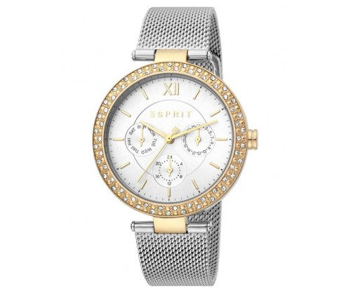 ESPRIT Betty two tone Silver Gold Mesh Stainless Steel Bracelet