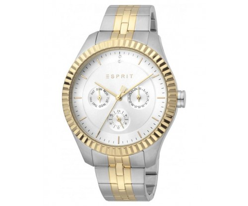 ESPRIT Flute two tone Silver Gold Stainless Steel Bracelet