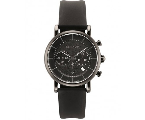 GANT Chronograph Gray, Black Silicon Strap