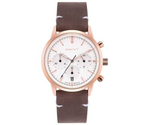 GANT Chronograph Ladies Brown Leather Strap