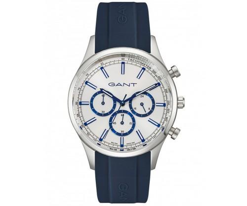 GANT Ridgefield chrono silver blue Silicone Strap