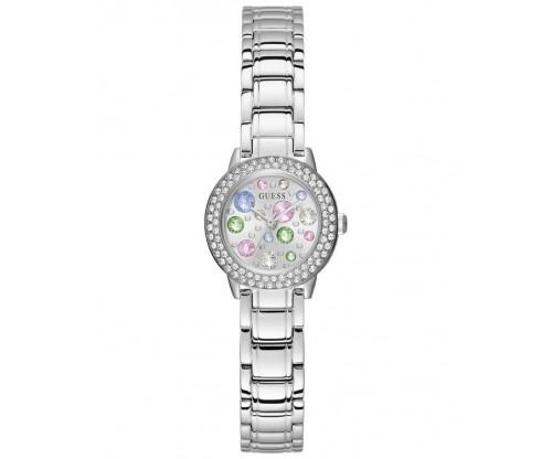 GUESS Ladies Crystal Silver Stainless Steel Bracelet