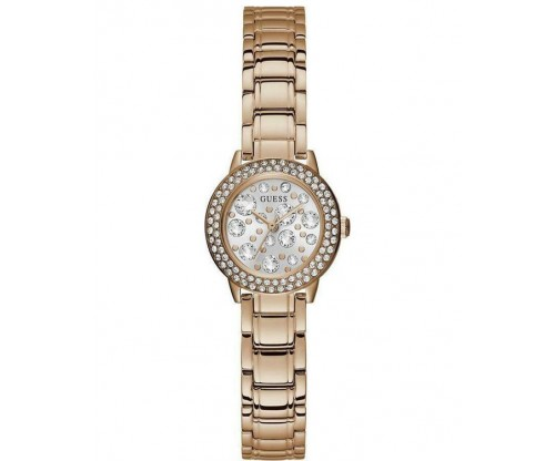 GUESS Ladies Crystal RoseGold Stainless Steel Bracelet