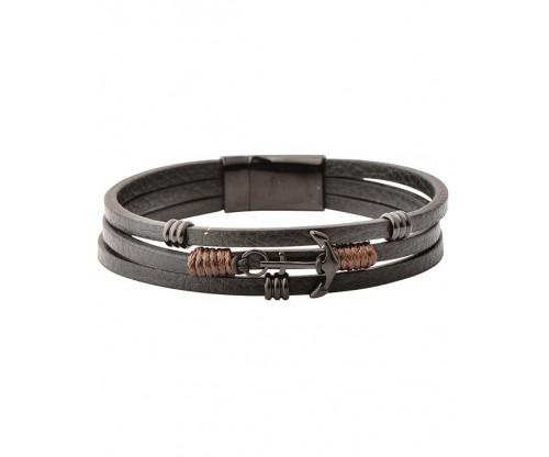 U.S. POLO Bracelet Black Leather