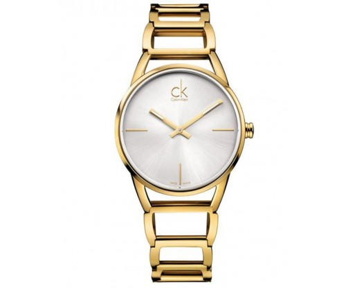CALVIN KLEIN Stately Gold Stainless Steel Bracelet