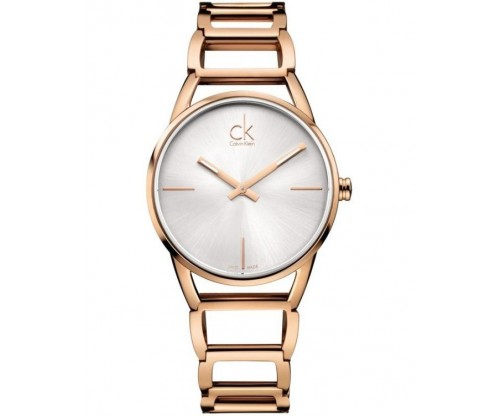 CALVIN KLEIN Stately Rose Gold Stainless Steel Bracelet