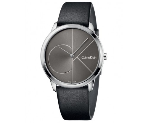 CALVIN KLEIN Minimal Black Leather Strap