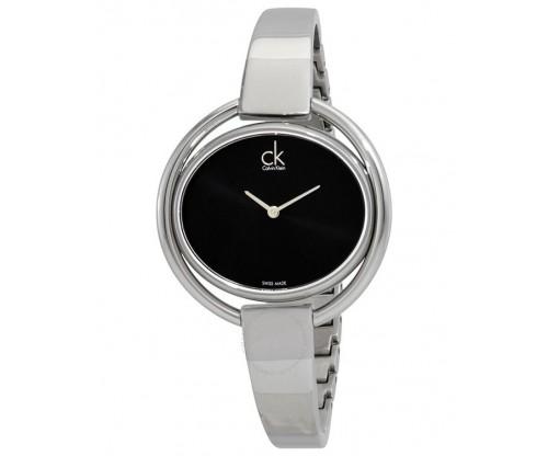 CALVIN KLEIN Impetuous Black Dial, Stainless Steel Bracelet