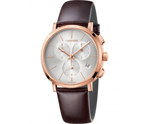 CALVIN KLEIN Posh Chronograph Brown Leather Strap