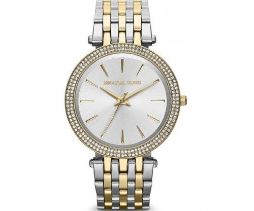 Michael KORS Darci Crystals Two Tone Stainless Steel Bracelet