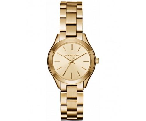 Michael KORS Mini Slim Runway Gold Stainless Steel Bracelet